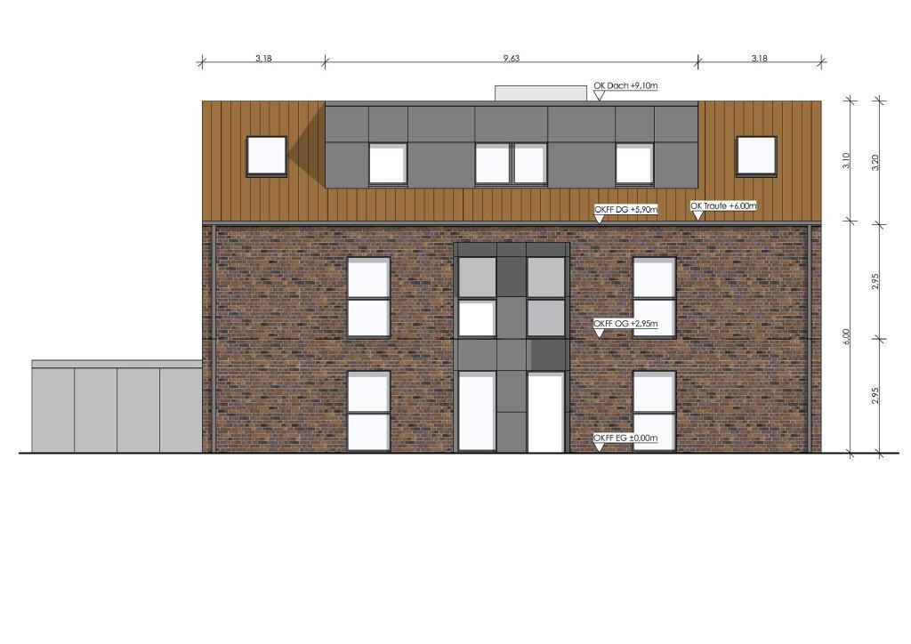 Sie wird erst noch gebaut: Neubau-Erdgeschosswohnung in Coesfeld