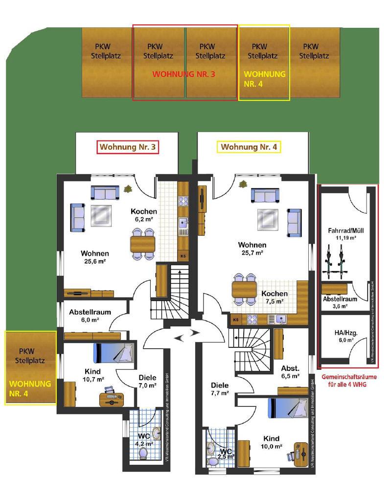 Schick, schlüsselfertig und absolut sehenswert – Neubau-Maisonettewohnung im Herzen des Neubaugebiets von Südlohn-Oeding