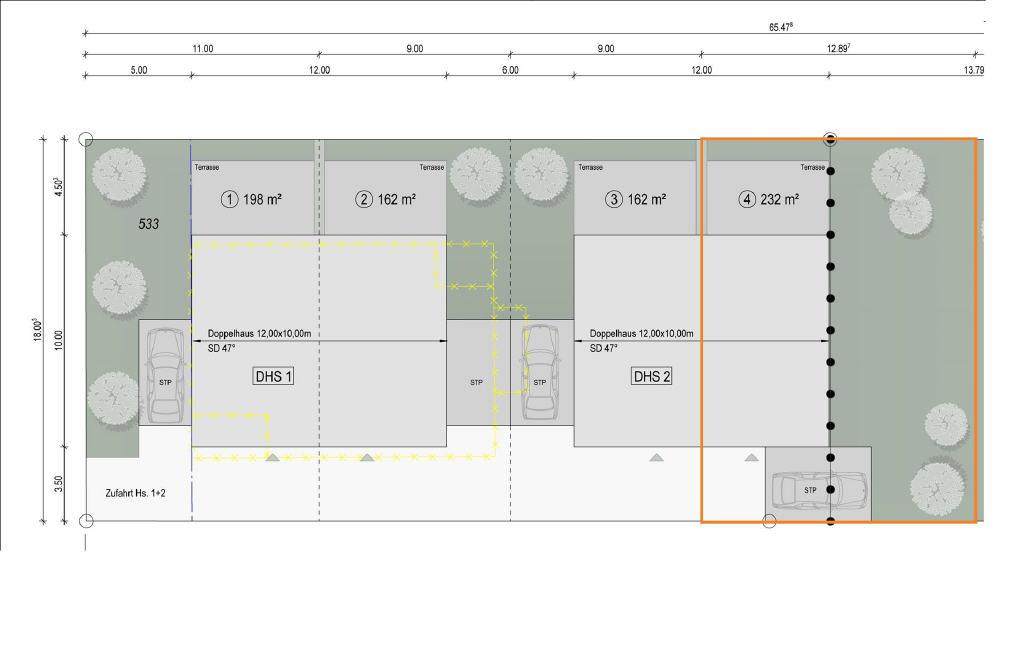 Schlüsselfertige Neubau-Doppelhaushälfte mit ca. 138 m² Wohn- u. Nutzfläche in Borken!