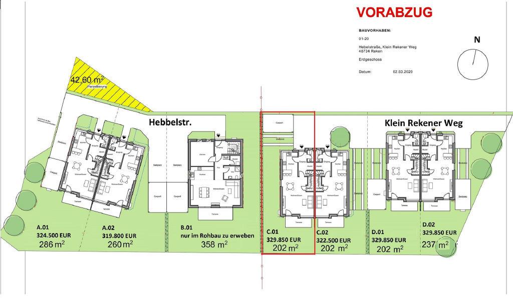 TAG DER OFFENEN TÜR am Sonntag, 08.11.2020 von 15:00 bis 16:30 Uhr! Neubau-Doppelhaushälfte in Bahnhof Reken!