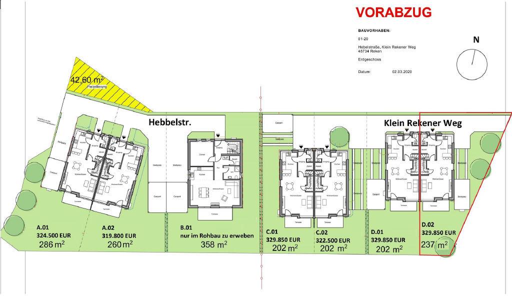 ABGESAGT: Tag der offenen Tür am 08.11.2020! Neubau-Doppelhaushälfte in Bahnhof Reken!