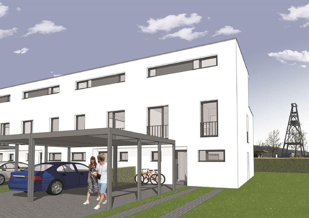Neubau-Reihenmittelhaus in Dinslaken als KfW-55-Effizienzhaus: ein Stück Lebensqualität direkt vor der Haustür!